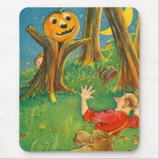 Jack O Lantern Pumpkin Monster Crescent Moon Mouse Pad