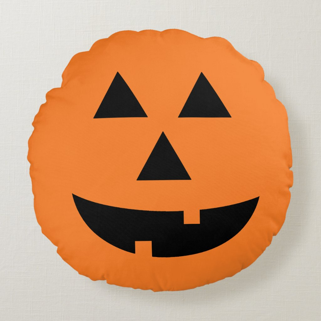 Jack-O-Lantern Pumpkin Orange Halloween Pillow
