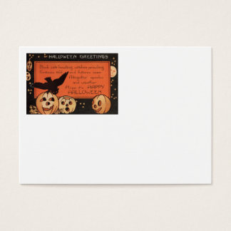 Jack O' Lantern Pumpkin Owl Stars Business Card