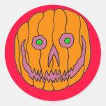 Jack O Lantern Pumpkin Round Sticker