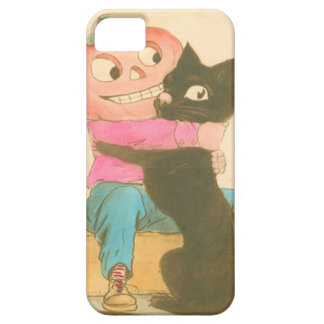 Jack O Lantern Pumpkin Scarecrow Black Cat iPhone SE/5/5s Case