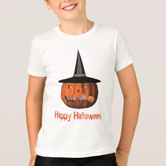 Jack O Lantern Pumpkin Witch Hat Halloween T-Shirt