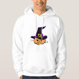 Jack O Lantern Pumpkin Witch Hat Hoodie