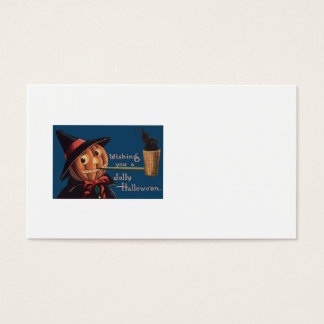 Jack O' Lantern Pumpkin Witch Pipe Business Card