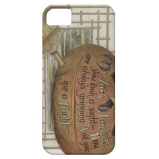Jack O' Lantern Pumpkin Witch's Broom iPhone 5 Covers
