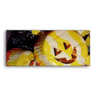Jack O Lantern Pumpkins Foil Candy Envelope