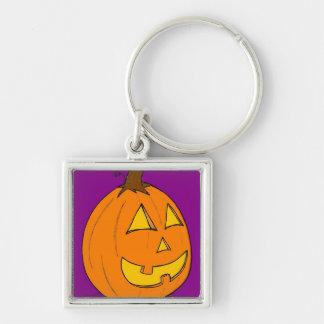 Jack o' Lantern Purple Keychain