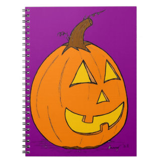 Jack o' Lantern Purple Notebook