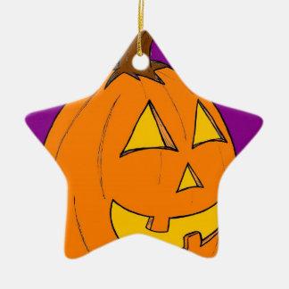 Jack o' Lantern Purple Ornament