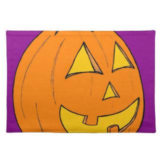 Jack o' Lantern Purple Placemat