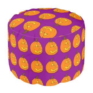 Jack o' Lantern & Purple Pouf