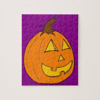 Jack o' Lantern Purple Puzzle