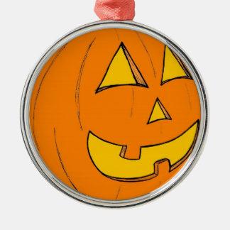 Jack o' Lantern Purple Round Ornament