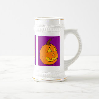 Jack o' Lantern Purple Stein Mugs