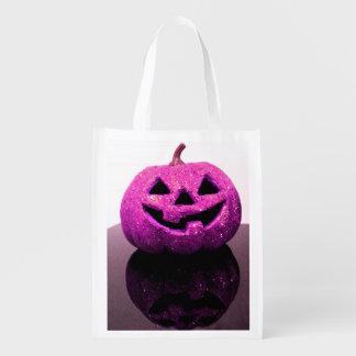 Jack-o'-lantern Reusable Grocery Bag