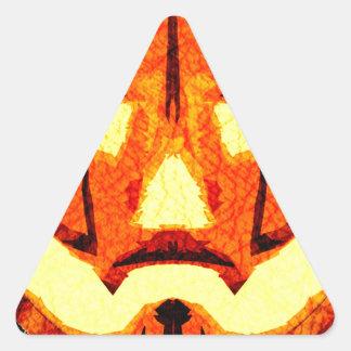 Jack O Lantern revist Triangle Sticker