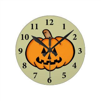 Jack O Lantern Round Clock