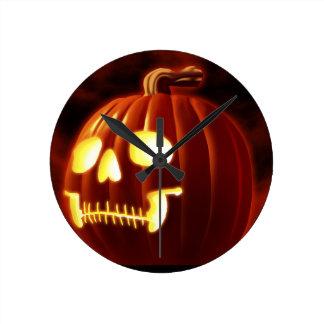 Jack-o-lantern Round Clock