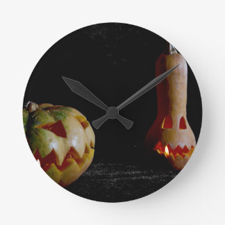 Jack-o'-lantern. Round Clock