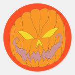 Jack O Lantern Round Sticker