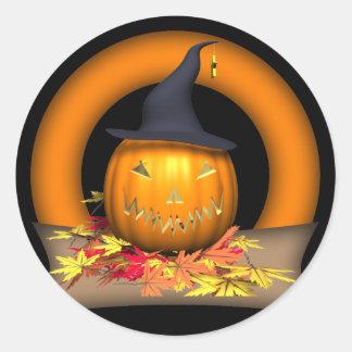 Jack-o-lantern Round Stickers
