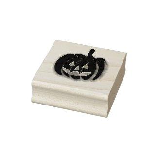 Jack-O-Lantern Rubber Stamp
