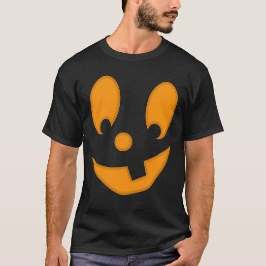 Jack-O-Lantern Silly Face Halloween Costume T-Shirt