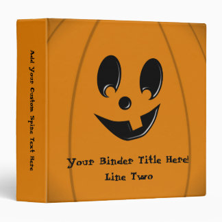 Jack-O-Lantern Silly Face with One Tooth Binder