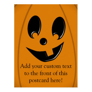 Jack-O-Lantern Silly Face with One Tooth Postcard