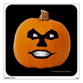 Jack o' Lantern Sinister Face, Halloween Pumpkin Wall Sticker