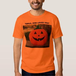 "Jack-o-lantern,  ""Smile, God Loves You""! T-Shirt"