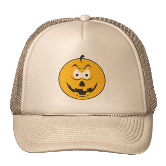 Jack-O-Lantern Smiley Face Trucker Hats