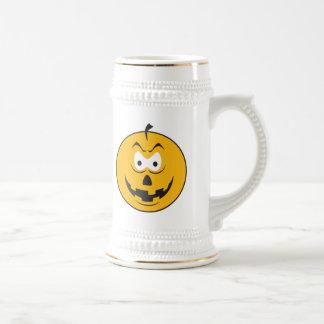 Jack-O-Lantern Smiley Face Mugs