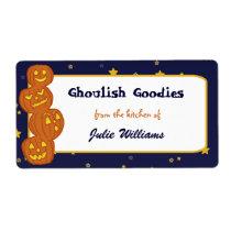 Jack O Lantern Totem Halloween Baking Labels