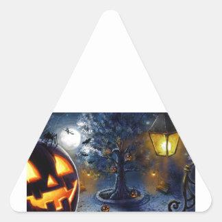 Jack-o-Lantern Tree Triangle Sticker