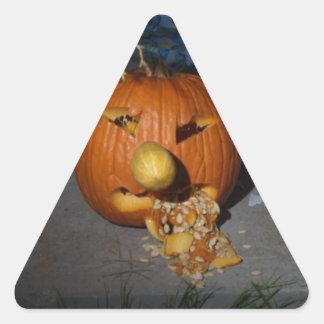 Jack o lantern triangle sticker