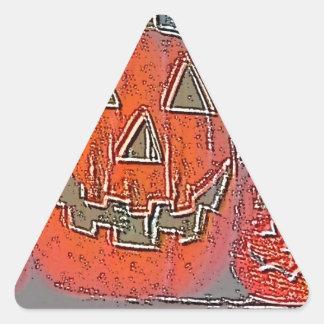 Jack-O Lantern Triangle Sticker