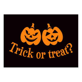Jack o lantern trick or treat large business cards (Pack of 100)