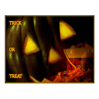 Jack-O-Lantern Trick or Treat Postcard
