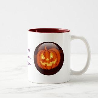 Jack-O'-Lantern Two-Tone Coffee Mug