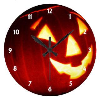 Jack o' Lantern Wall Clock