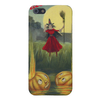 Jack O' Lantern Witch Full Moon Broom Cover For iPhone SE/5/5s