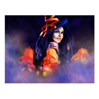 Jack-O-Lantern Witch Post Cards