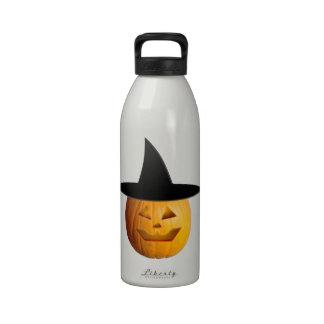 Jack O' Lantern Witch Reusable Water Bottles