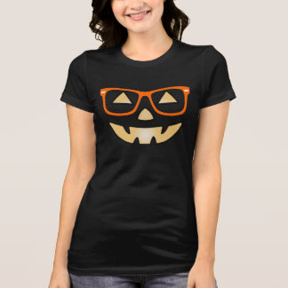 Jack-O-Lantern With Glasses Customizable T-shirt