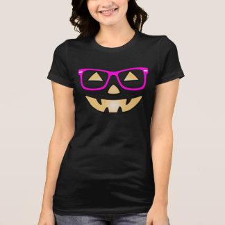 Jack-O-Lantern With Glasses Customizable T-shirt