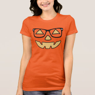 Jack-O-Lantern With Glasses T-Shirt