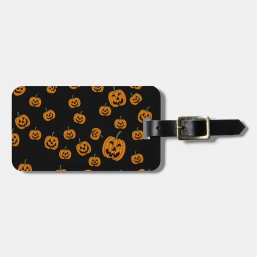 Jack O' Lanterns background Tag For Bags