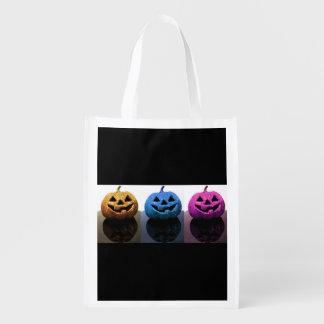 Jack-o'-lanterns Grocery Bag