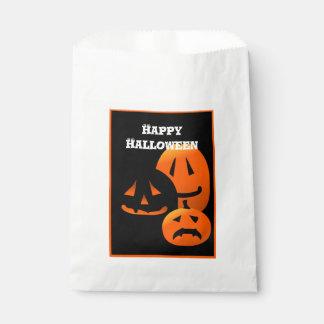 Jack-o-Lanterns Happy Halloween Party Favor Bag